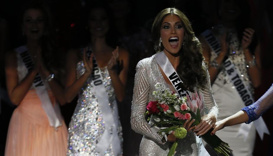 Gabriela Isler, Miss Venezuela, no pudo ocultar su sorpresa y emoción al ser elegida Miss Universo 2013. (AP)
