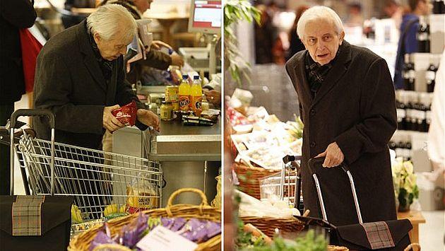 Cornelius Gurlitt en un supermercado en Munich. (Telegraph.uk)