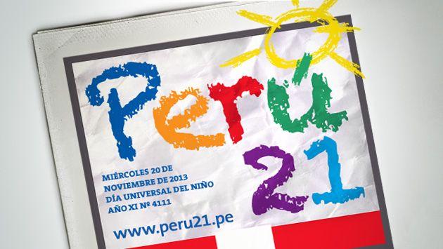 Logo infantil y colorido por el Día del Niño. (Perú21)