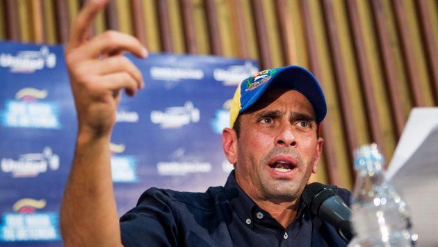 Henrique Capriles hizo llamado a protesta para este sábado. (EFE)