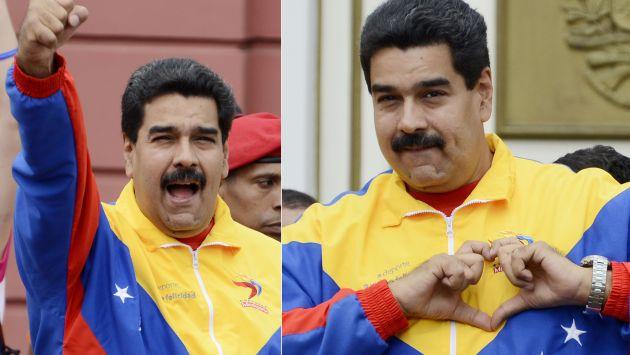 Maduro dio un discurso ante universitarios afines al chavismo. (AFP)