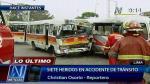 Cercado de Lima: Accidente de tránsito deja siete heridos - Noticias de julio rojas