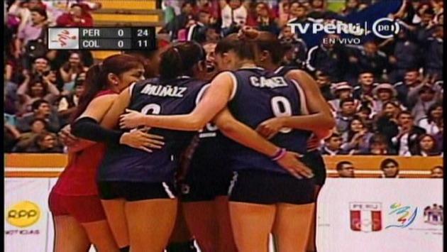 Pese a que se les complicó el tercer set, pudieron sacar el partido adelante. (TV Perú)