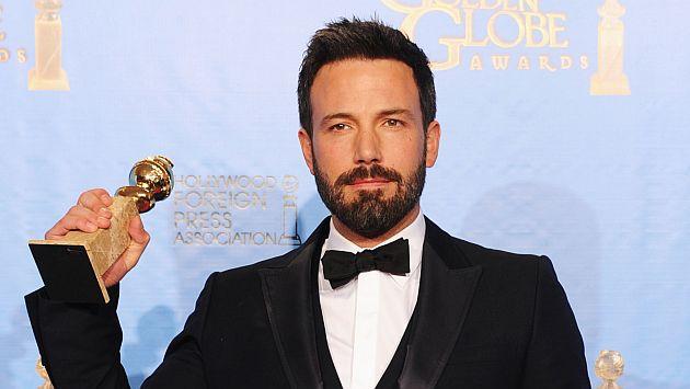 Ben Affleck ganó un globo de oro como mejor director por Argo este año. (AFP)