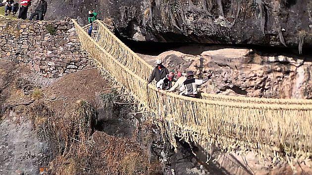 El puente Queswachaka es maravilla de la ingeniería inca y se encuentra  casi en estado original. (Difusión)