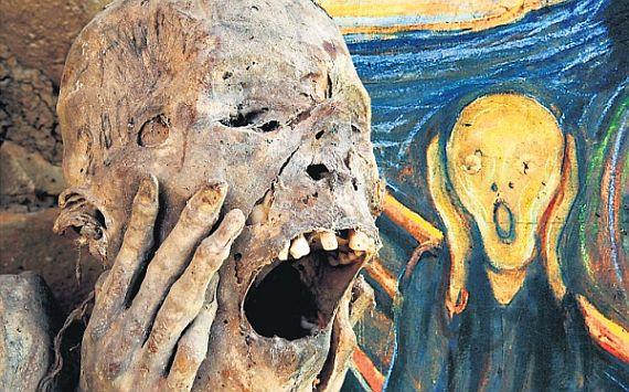 Momia fue extraída en 1877 y sirvió de inspiración para la famosa pintura de Edvard Munch. (USI)