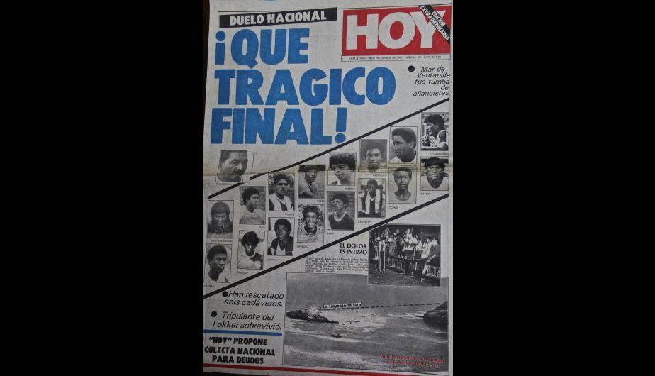 Alianza Lima: Así informó la prensa peruana la tragedia del Fokker [Fotos]