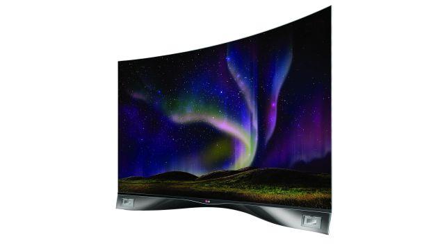 """TV curvo de 55"""" de LG a S/.29.999. (Internet)"""