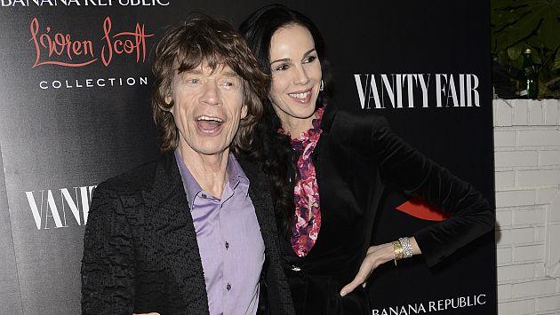 Mick Jagger y su novia, L\'Wren Scott. (AP)