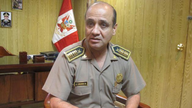 Jorge Linares Ripalda, jefe policial detenido por presuntos vínculos con el hampa. (Difusión)