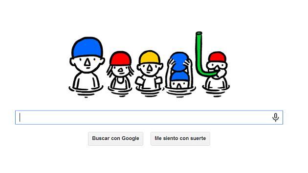 Google le dedica al solsticio de verano un refrescante 'doodle'. (Internet)