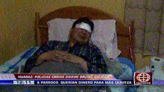 Cura fue brutalmente golpeado por policías. (América TV)