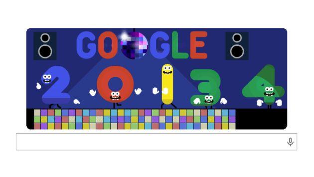 Doodle de Año Nuevo. (Google)