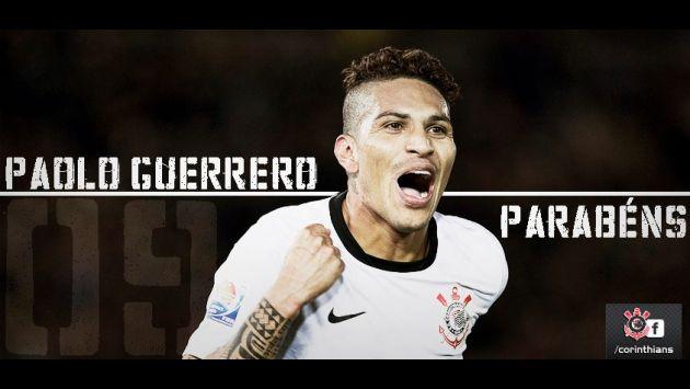 Corinthians felicitó a Paolo Guerrero por su cumpleaños número 30. (Difusión)
