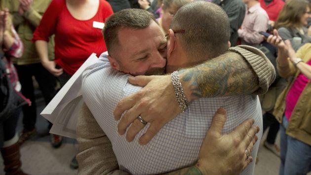 Matrimonio homosexual: Corte Suprema de EEUU lo suspende en Utah. (AP)