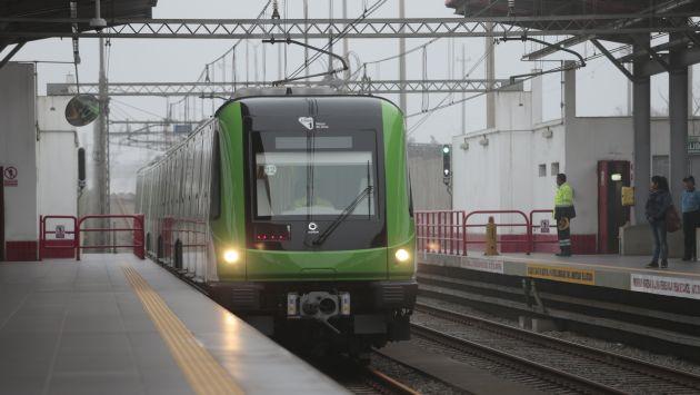 Metro de Lima cuenta con nuevos y modernos vagones. (Perú21)