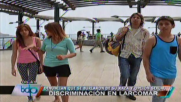 Jóvenes fueron perseguidos hasta los alrededores de Larcomar. (Panamericana)