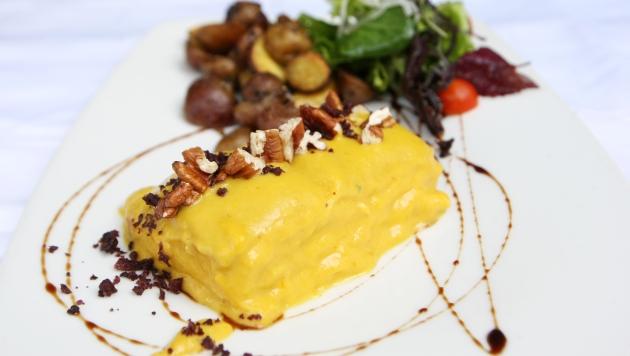 Otro de los grandes platos del lugar es el milhojas de ají de gallina. (Nancy Dueñas)