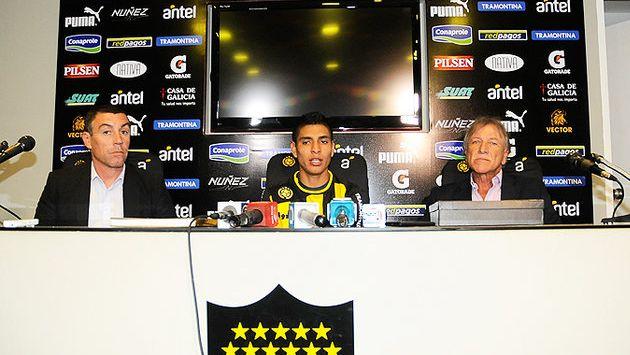Paolo Hurtado fue presentado en Uruguay la semana pasada. (Difusión)