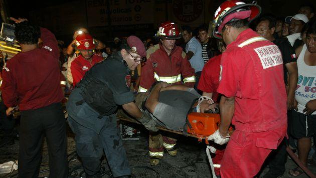 Heridos fueron trasladados al hospital de Las Mercedes. (USI/Referencial)