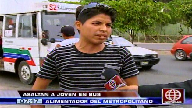 Denuncia asalto en bus alimentador del Metropolitano. (América TV)