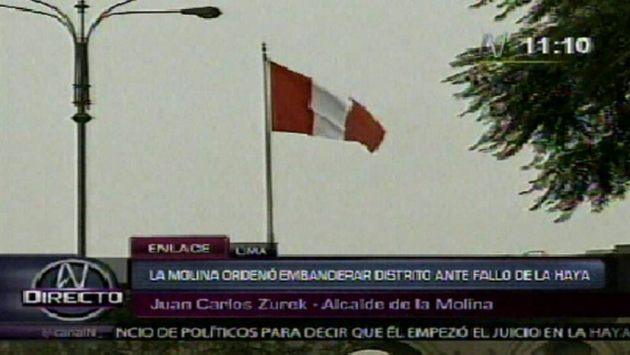 Vecinos de La Molina pondrán banderas en casas. (Canal N)