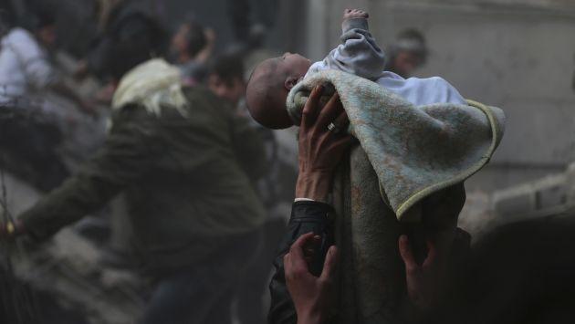 """Rateb Malis, el """"bebé milagro"""" de Siria que conmueve al mundo. (Reuters)"""