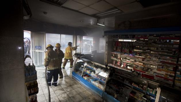 Los Caballeros Templarios incendiaron farmacia en Apatzingán. (AP)