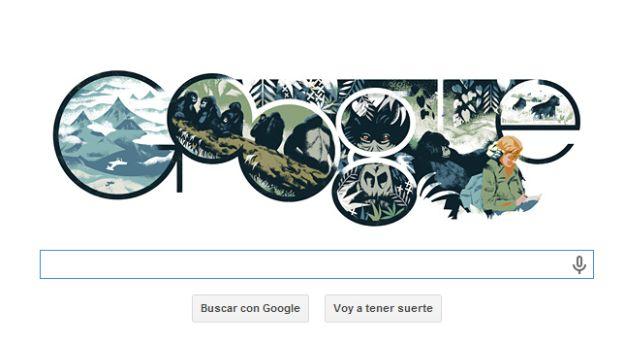 Google rinde homenaje a Dian Fossey. (Google)