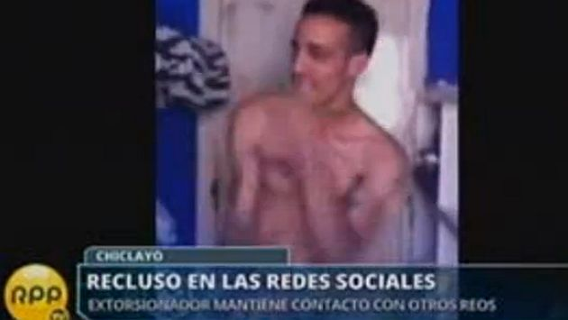 Extorsionador chiclayano actualiza su Facebook desde penal de Piedras Gordas. (RPPTV)