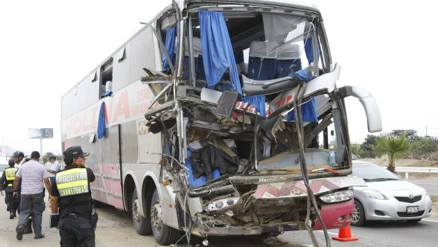 Áncash: Choque entre ómnibus interprovincial y camión deja tres muertos. (USI/Referencial)