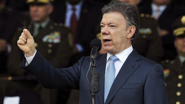 Juan Manuel Santos habló sobre las FARC. (AP)