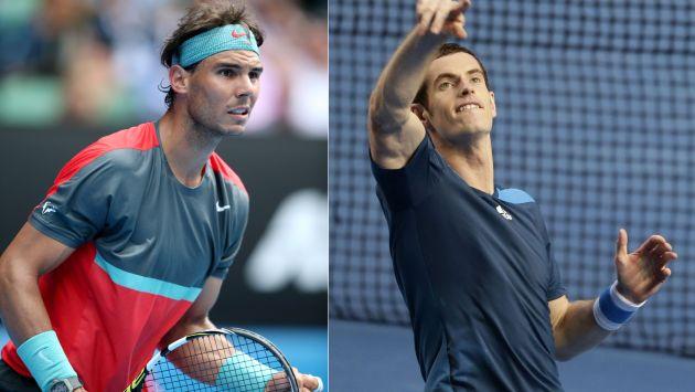 Rafael Nadal y Andy Murray sufren en Abierto de Australia. (EFE)