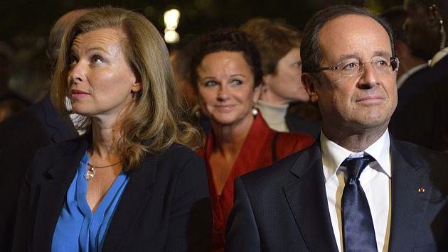 François Hollande y Valerie Trierweiler. (AFP)