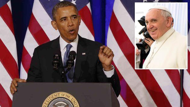 Barack Obama se reunirá con el Papa Francisco el 27 de marzo. (AP)