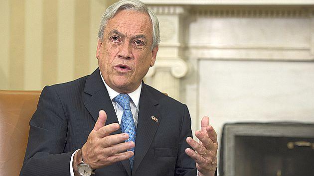 Sebastián Piñera declaró tras balance tras comparecer ante el Consejo para las Relaciones Exteriores. (AFP)