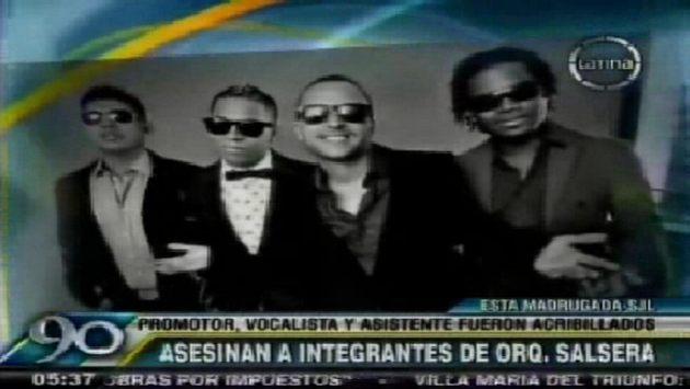 Asesinan a tres integrantes de orquesta de salsa. (Canal 4)