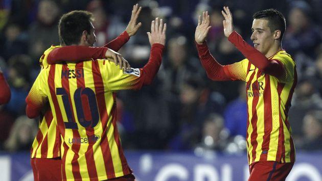 Copa del Rey: Barcelona ganó 4-1 a Levante en el partido 400 de Lionel Messi. (AP)
