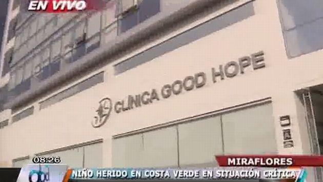 El menor herido por caída de roca se recupera. (Panamericana TV)