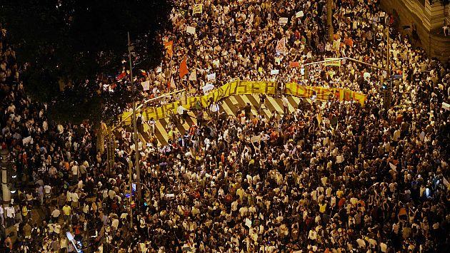 Las protestas en Brasil en junio pasado fueron masivas. (EFE)