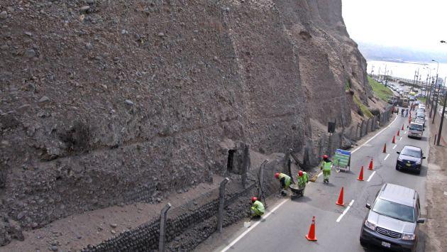 Se inició enmallado de acantilados de la Costa Verde. (Andina/Canal N)