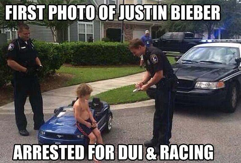 Justin Bieber fue ridiculizado tras su arresto. (Internet)