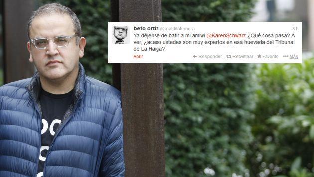 Beto Ortiz defiende a Karen Schwarz tras confundir La Haya con político. (USI)