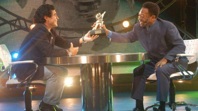 """Diego Maradona: """"Pelé está acostumbrado a ser segundo"""". (Internet)"""