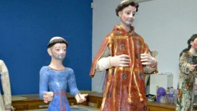 Algunas de las imágenes religiosas restauradas. (Difusión)