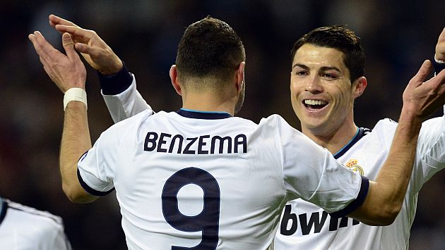 Cristiano Ronaldo y Benzema anotaron en triunfo del Real Madrid. (AFP)