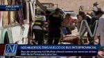 Arequipa: Al menos siete muertos y 39 heridos tras vuelco de bus - Noticias de jose luis huamani