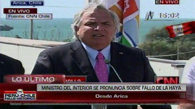 Andrés Chadwick declaró desde Arica. (Canal N)