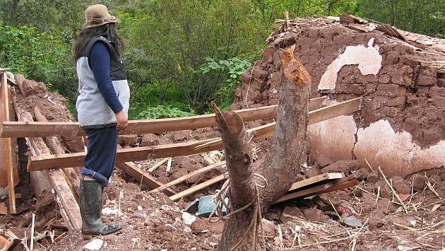 Apurímac: Más de 20 viviendas afectadas por deslizamientos de tierra. (USI/Referencial)