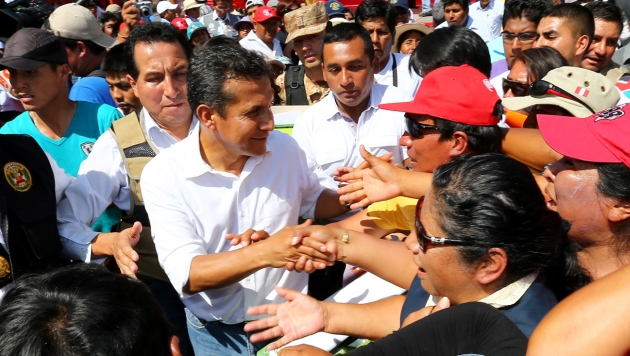 Ollanta Humala recordó levantamiento de Locumba. (Andina)